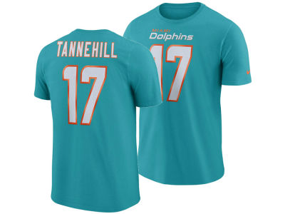 Miami Dolphins Ryan Tannehill Nike NFL Men's Pride Name and Number Wordmark T-shirt