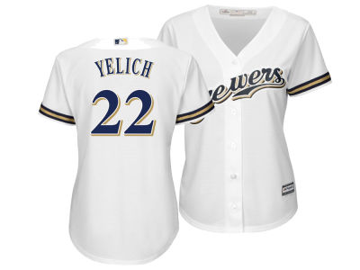 Milwaukee Brewers Christian Yelich Majestic MLB Women's Cool Base Player Replica Jersey