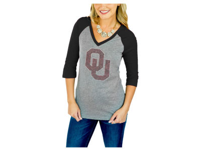 Oklahoma Sooners Gameday Couture NCAA Women's Bling Raglan T-Shirt