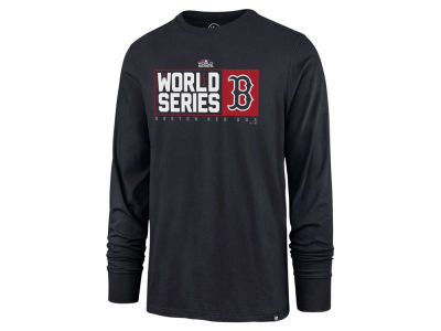 Boston Red Sox '47 2018 MLB Men's World Series Stack Long Sleeve T-shirt