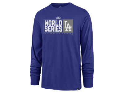Los Angeles Dodgers '47 2018 MLB Men's World Series Stack Long Sleeve T-shirt