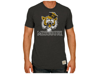 best service aba40 2bcea Missouri Tigers Retro Brand NCAA Men s Tri-Blend Vault Logo T-Shirt