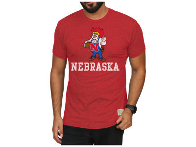 Nebraska Cornhuskers Retro Brand NCAA Men's Mock Twist Vault Logo T-Shirt