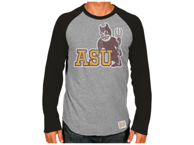 Arizona State Sun Devils Retro Brand NCAA Men's Team Logo Raglan T-shirt