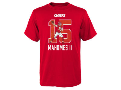 Kansas City Chiefs Pat Mahomes Outerstuff NFL Youth Lazer Name and Number T-Shirt