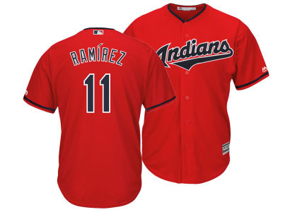 Cleveland Indians Jose Ramirez MLB Men's Player Replica Cool Base Jersey