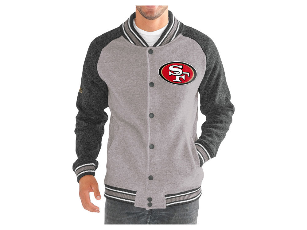 San Francisco 49ers G-III Sports NFL Men s The Ace Player Front Button  Jacket  ea02176be