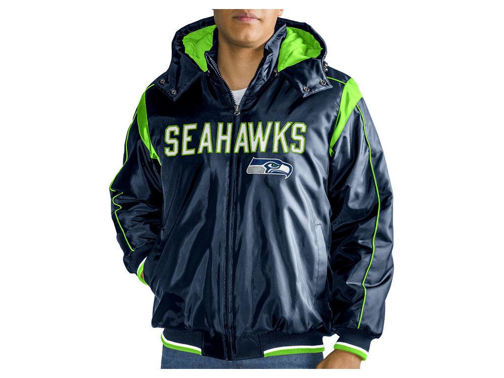 Seattle Seahawks G-III Sports NFL Men s Hot Read Player Front Zip Jacket  f737c257f