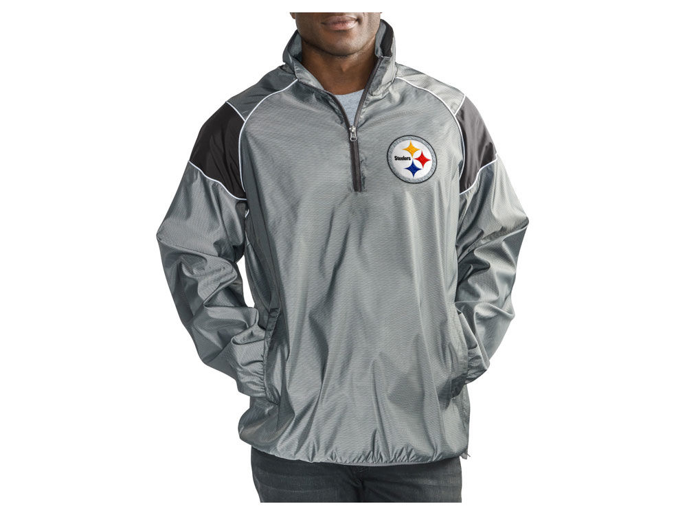 Pittsburgh Steelers G-III Sports NFL Men s Fade Player Lightweight Pullover  Jacket  db35573e8