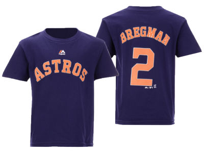 Houston Astros Alex Bregman Majestic MLB Kids Official Player T-Shirt