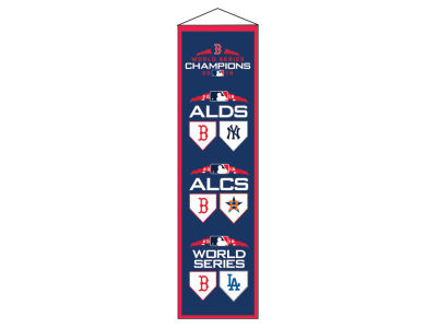 "Boston Red Sox Winning Streak 2018 MLB World Series ""Road-to-the Championship"" Banner"