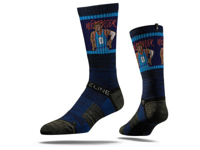 Oklahoma City Thunder Russell Westbrook Strideline NBA Action Crew Socks
