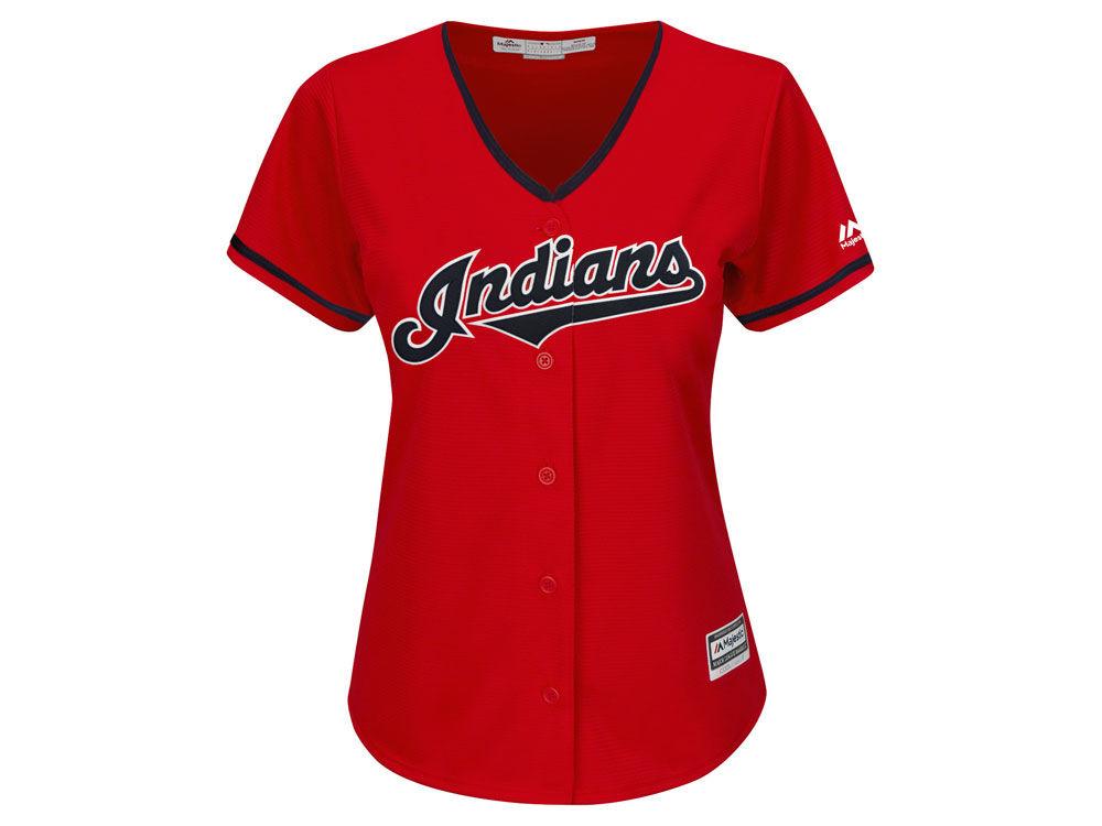 Cleveland Indians Majestic MLB Women s Cool Base Jersey  33777e224