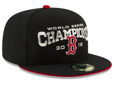 Boston Red Sox New Era 2018 MLB World Series Black 59FIFTY Cap
