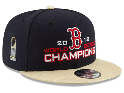 Boston Red Sox New Era 2018 MLB World Series Team Heather 9FIFTY Snapback Cap