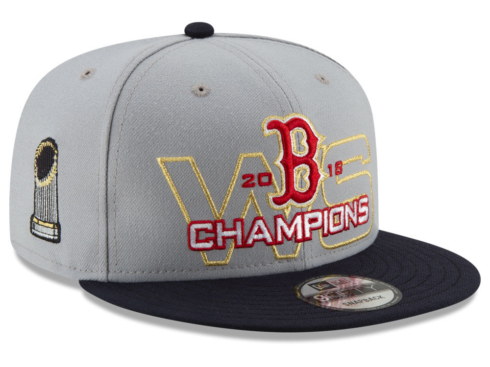 541dcfe3aa1 Boston Red Sox New Era 2018 MLB World Series Gray 9FIFTY Snapback Cap