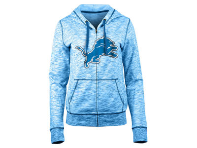 Detroit Lions 5th & Ocean NFL Women's Space Dye Full Zip Hoodie
