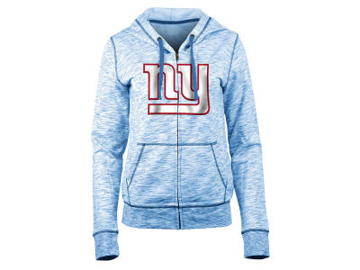 New York Giants 5th & Ocean NFL Women's Space Dye Full Zip Hoodie