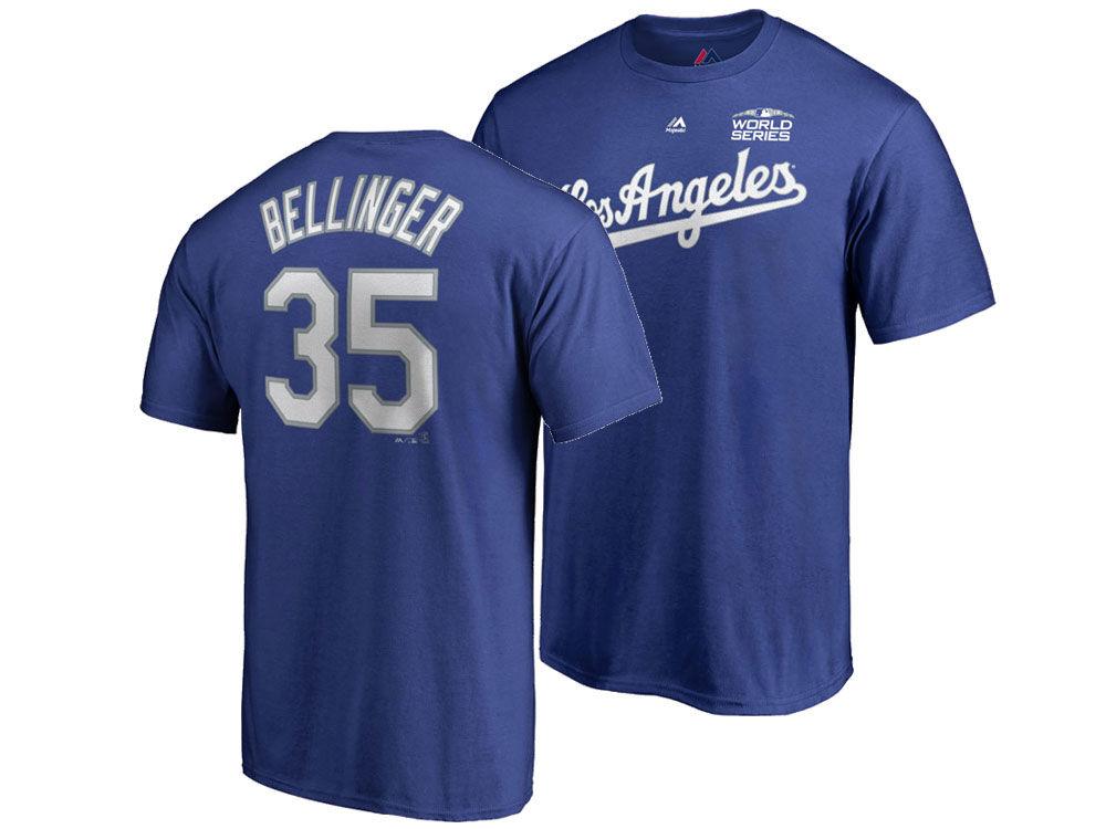 Los Angeles Dodgers Cody Bellinger Majestic 2018 MLB Men s World Series  Patch Official Player T-Shirt  0bd6da8d1c8