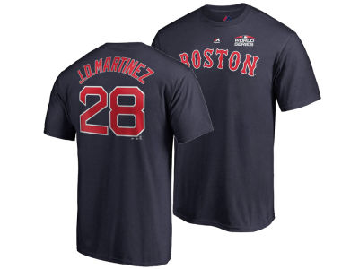 Boston Red Sox J. D. Martinez Majestic 2018 MLB Men's World Series Patch Official Player T-Shirt