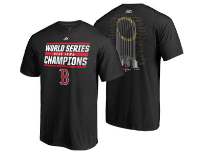 Boston Red Sox Majestic 2018 MLB Men's World Series Champ Signature Trophy T-Shirt