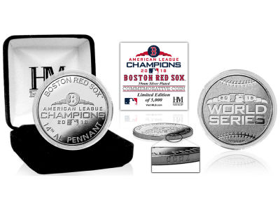 Boston Red Sox Highland Mint 2018 MLB League Champs Silver Mint Coin