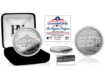 Los Angeles Dodgers Highland Mint 2018 MLB League Champs Silver Mint Coin