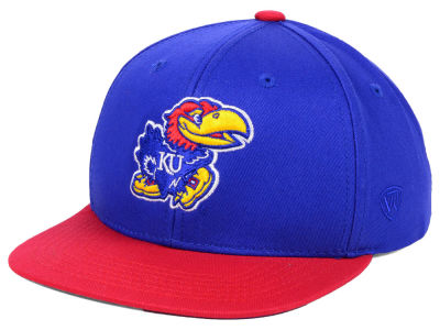 24945887f4a Kansas Jayhawks Top of the World NCAA Youth Maverick Snapback Cap