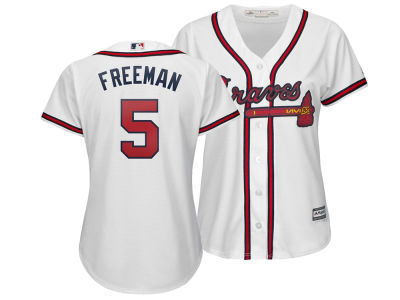 Atlanta Braves Freddie Freeman Majestic MLB Women s Cool Base Player  Replica Jersey 60c89d7222