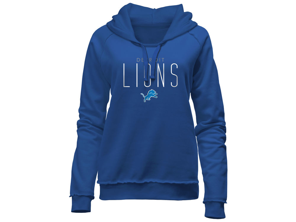 Detroit Lions 5th   Ocean NFL Women s Fleece Pullover Hoodie  a3d37752e