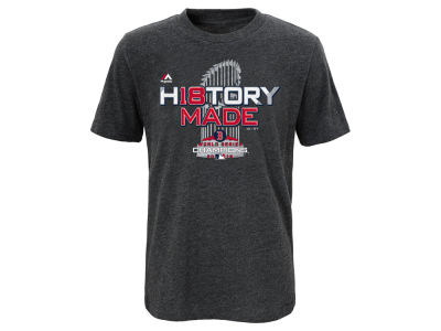 Boston Red Sox Majestic 2018 MLB Kids World Series Champ Locker Room T-Shirt