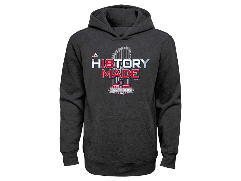 b96c0a0a65a Boston Red Sox Majestic 2018 MLB Youth World Series Locker Room Hoodie