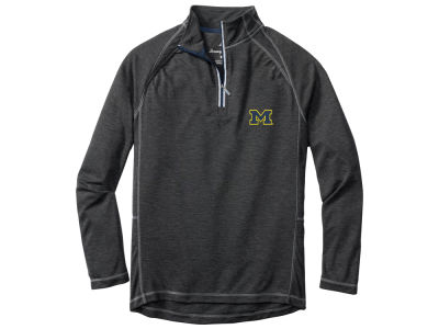 Michigan Wolverines Tommy Bahama NCAA Men's New Firewall Quarter Zip Pullover