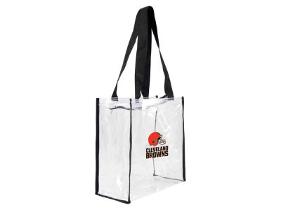 Cleveland Browns Little Earth Clear Square Zip Tote
