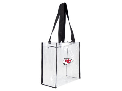 Kansas City Chiefs Little Earth Clear Square Zip Tote