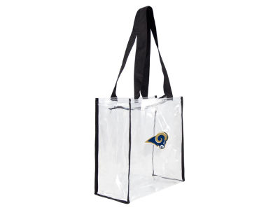 Los Angeles Rams Little Earth Clear Square Zip Tote