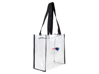New England Patriots Little Earth Clear Square Zip Tote