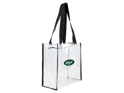New York Jets Little Earth Clear Square Zip Tote