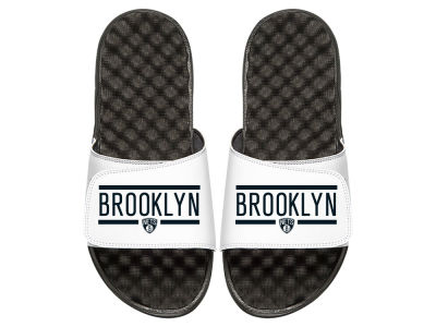 Brooklyn Nets ISlide NBA Bar Logo Sandals