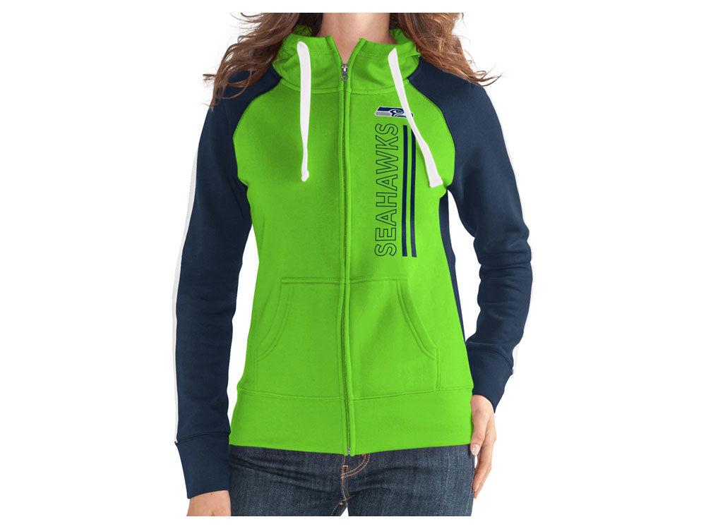 Seattle Seahawks G-III Sports NFL Women s Full Zip Team Hooded Sweatshirt  9e8744b8a