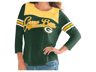 Green Bay Packers G-III Sports NFL Women's Sleeve Stripe Raglan T-shirt