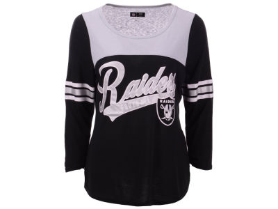 Oakland Raiders G-III Sports NFL Women's Sleeve Stripe Raglan T-shirt