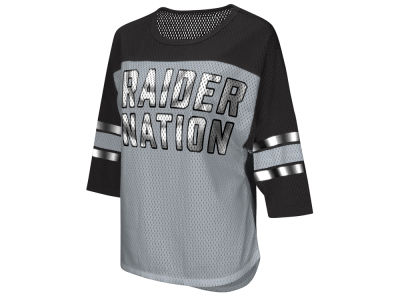 Oakland Raiders G-III Sports NFL Women's Team Sleeve Stripe T-Shirt