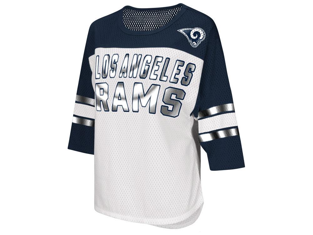 Los Angeles Rams G-III Sports NFL Women s Team Sleeve Stripe T-Shirt ... 5cab4c6088