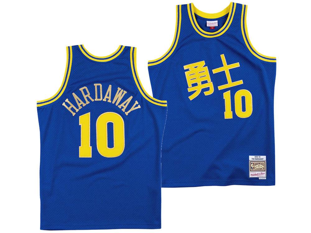 Golden State Warriors Tim Hardaway Mitchell   Ness NBA Chinese New Year  Swingman Jersey  c19e92e0b