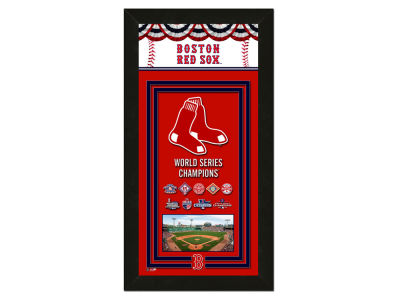 "Boston Red Sox Photo File MLB Champs Framed Banner - 14.5"" x 27.5"""