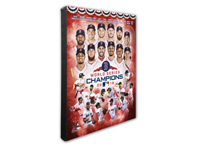 "Boston Red Sox Photo File 2018 MLB World Series Champions Composite 16"" x 20"" Canvas"