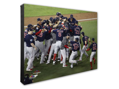 "Boston Red Sox Photo File 2018 MLB World Series Action 16"" x 20"" Canvas Photo"