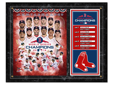 "Boston Red Sox Photo File 2018 MLB World Series 12"" x 15"" Champions Composite Plaque"
