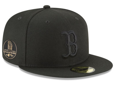 Boston Red Sox New Era 2018 MLB World Series Blackout Champ 59FIFTY Cap